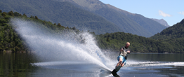 Waterskiing on Lake Manapouri
