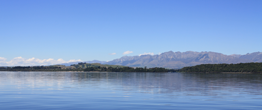The view looking towards the Manapouri Township